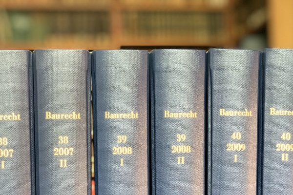 Baurecht Zeitschrift (AGB)