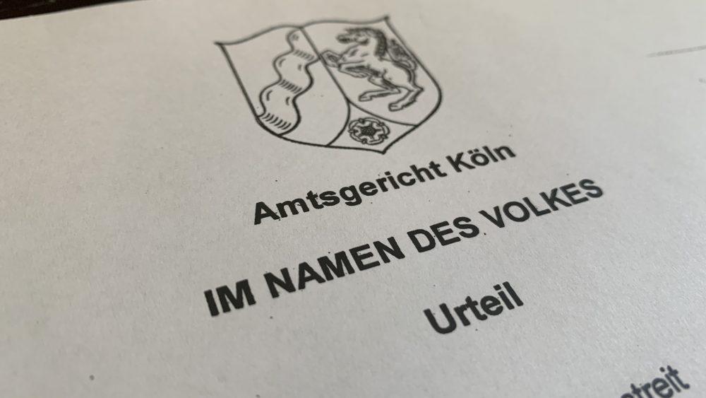 AG Köln Urteil